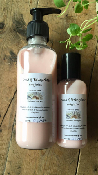 Bodylotion Bringebær & Rose